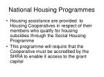 national housing programmes