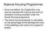 national housing programmes1