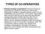 types of co operatives1
