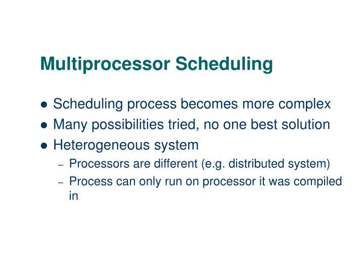 Multiprocessor Scheduling
