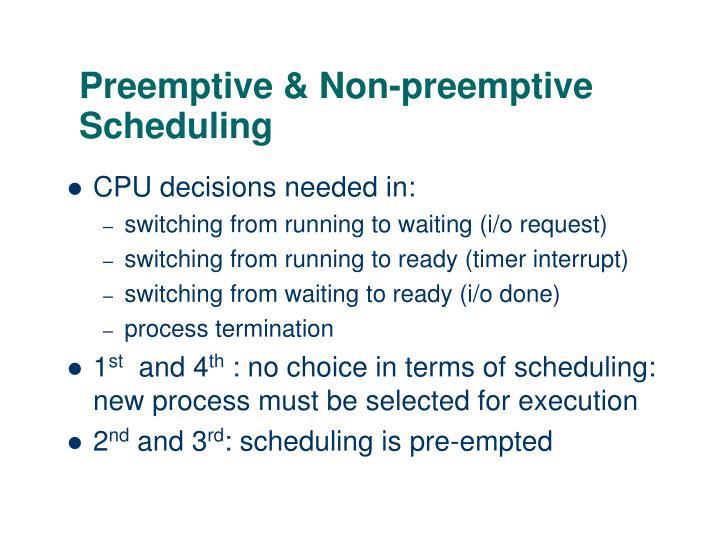 Preemptive non preemptive scheduling