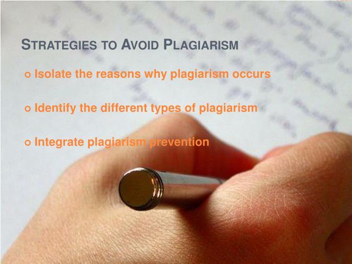 Strategies to avoid plagiarism