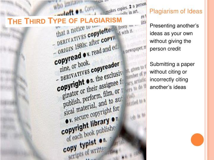 Plagiarism of Ideas