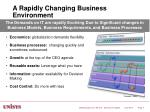 a rapidly changing business environment