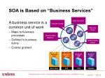 soa is based on business services