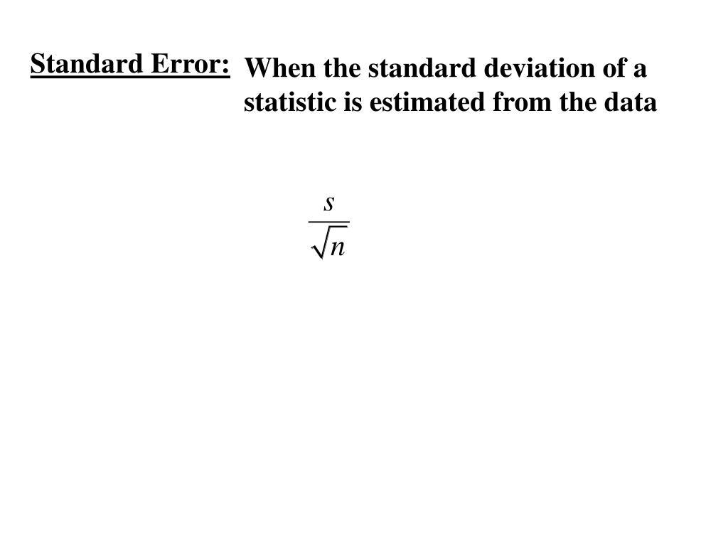 Standard Error: