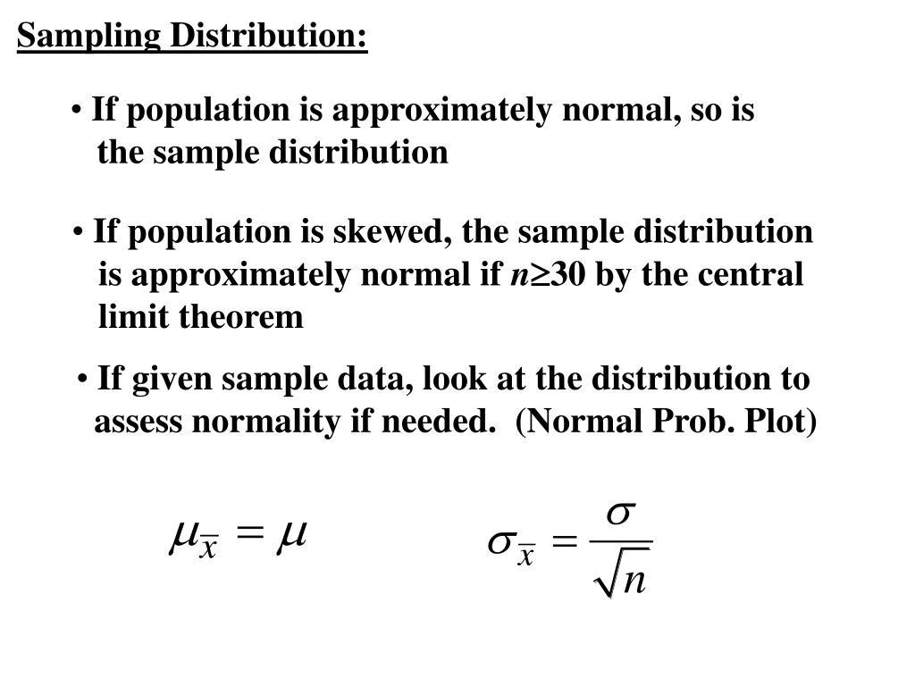 Sampling Distribution: