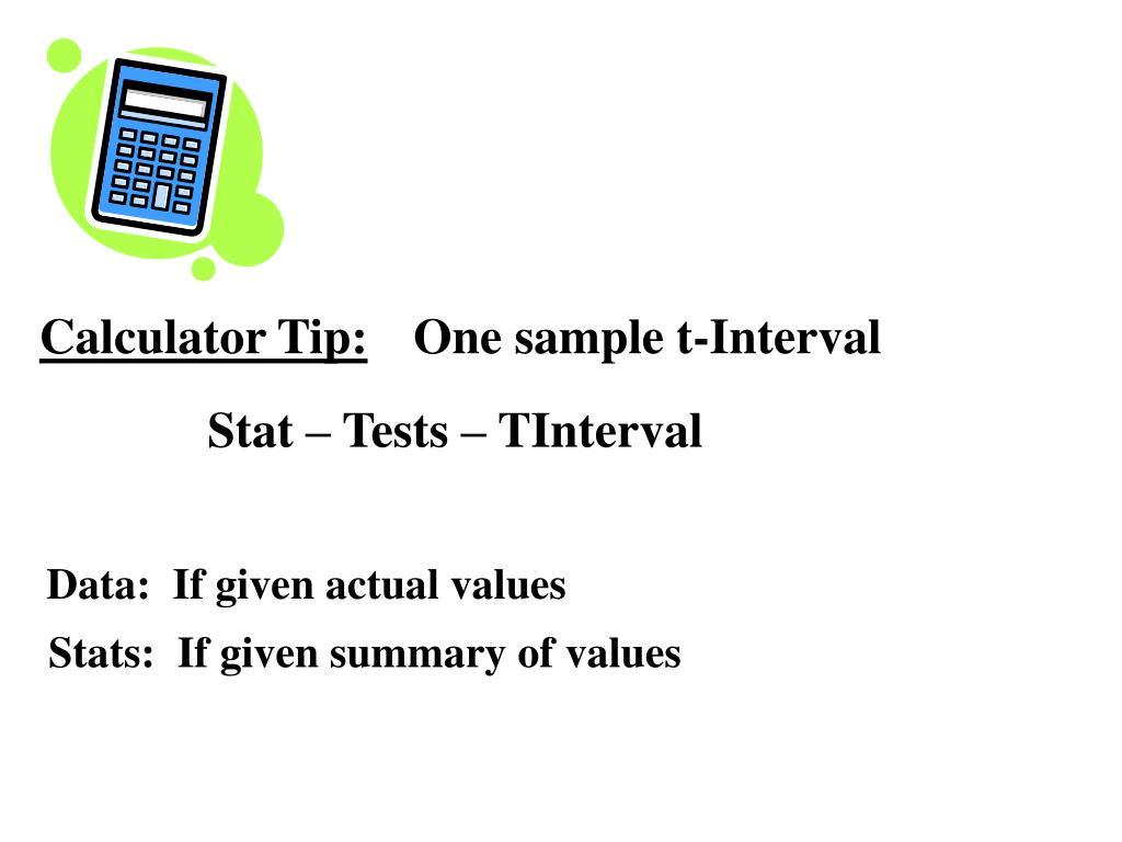 Calculator Tip: