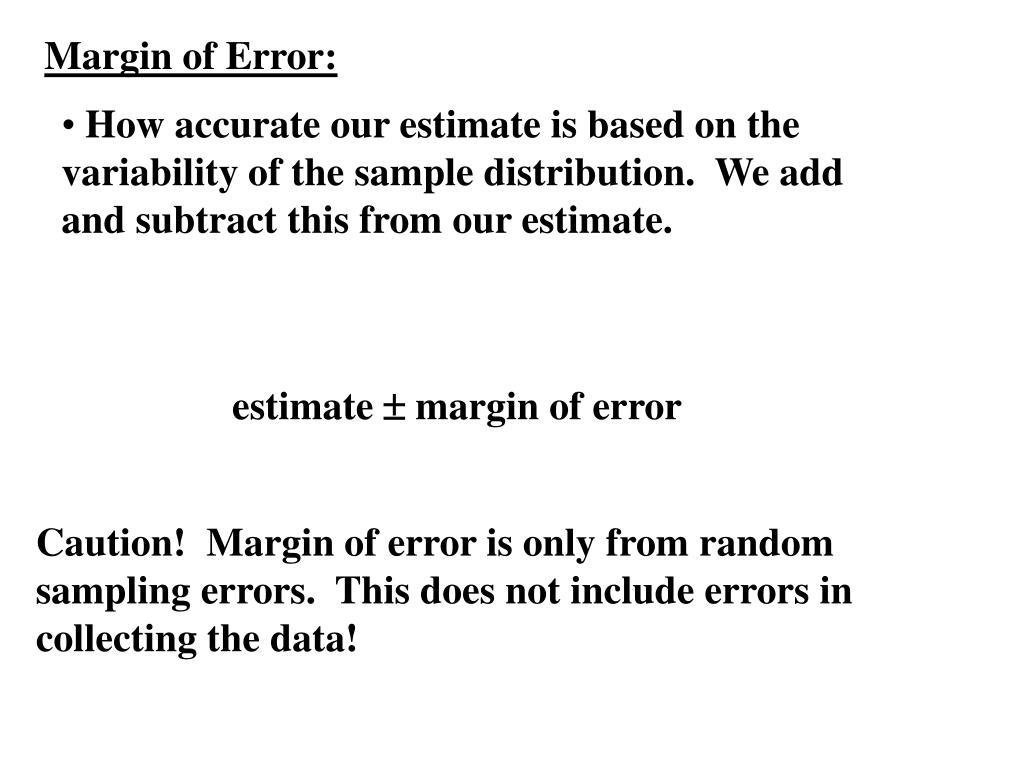Margin of Error: