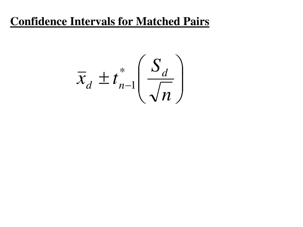 Confidence Intervals for Matched Pairs