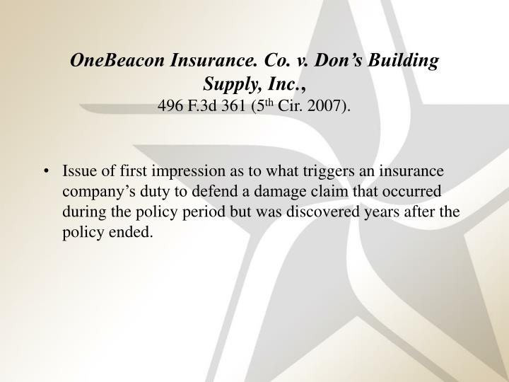 Don S Building Supply V One Beacon