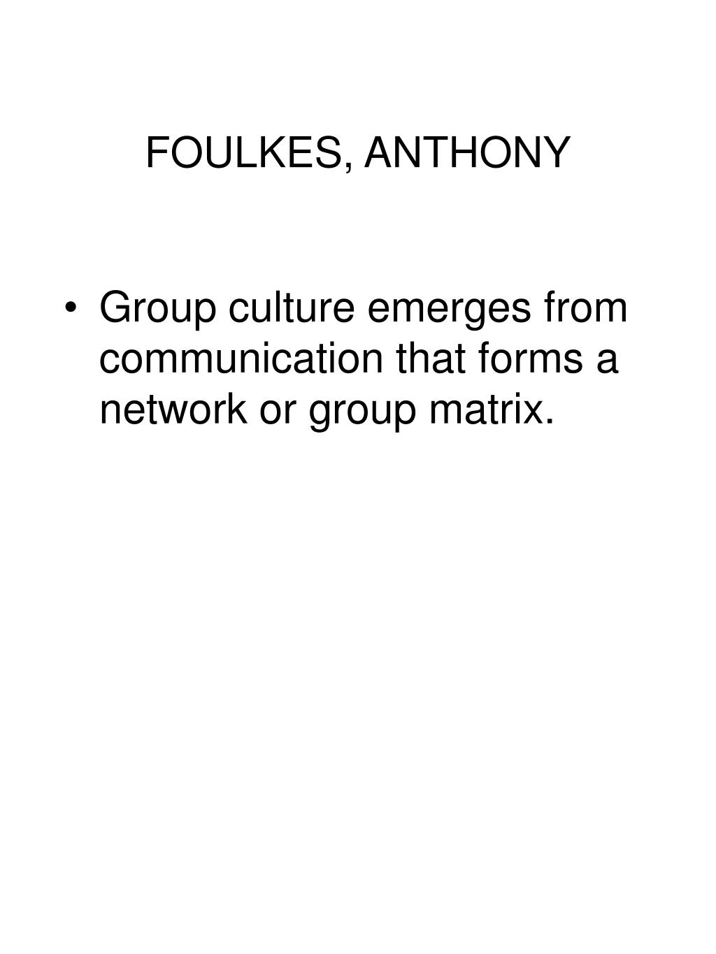 FOULKES, ANTHONY