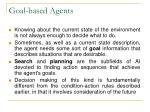 goal based agents