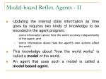 model based reflex agents ii
