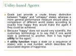 utility based agents
