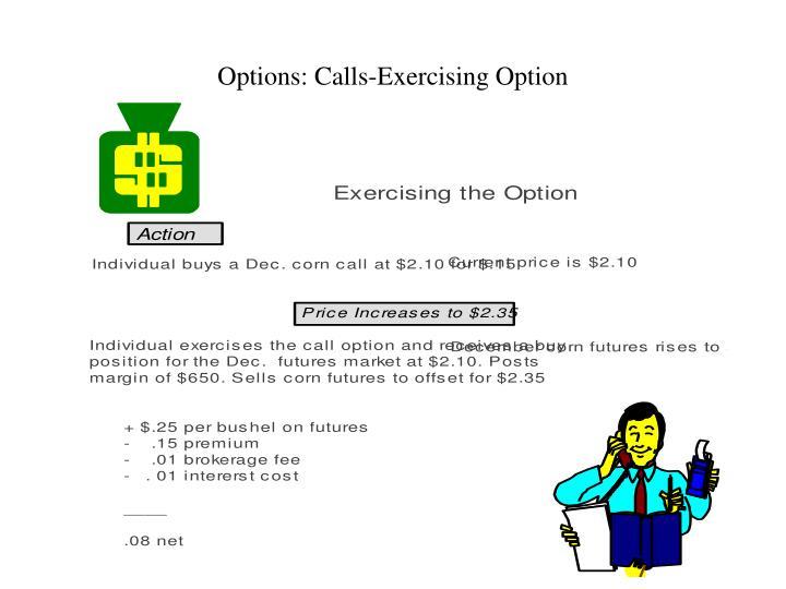 Options: Calls-Exercising Option