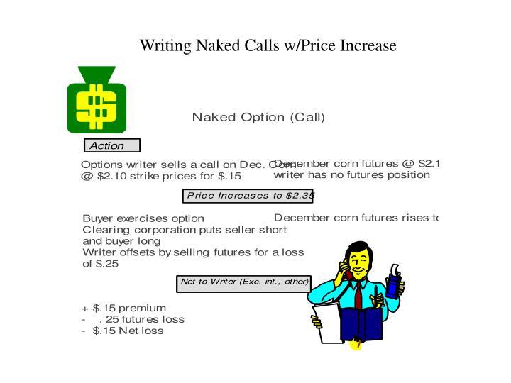 Writing Naked Calls w/Price Increase