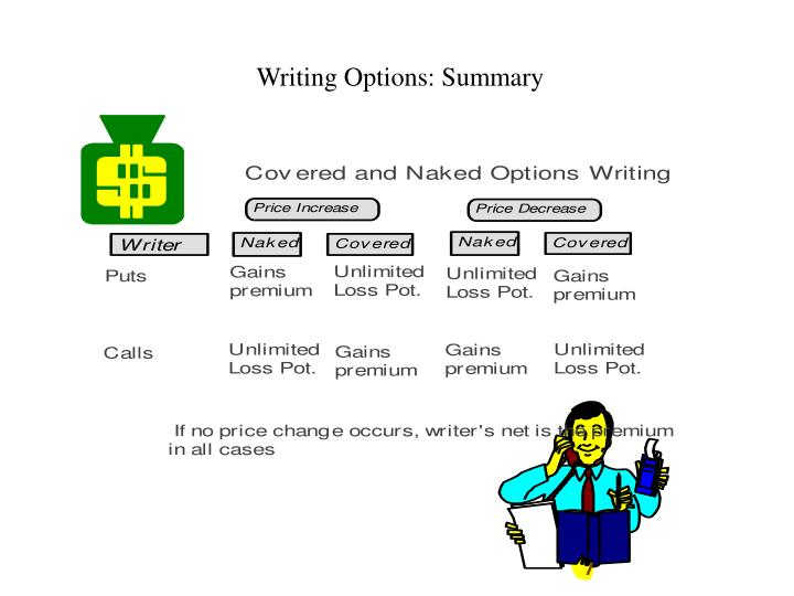 Writing Options: Summary