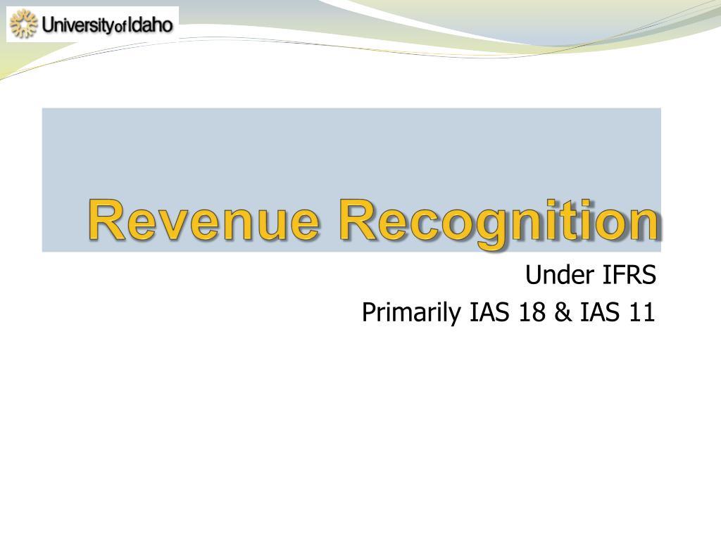 ias 18 expense recognition