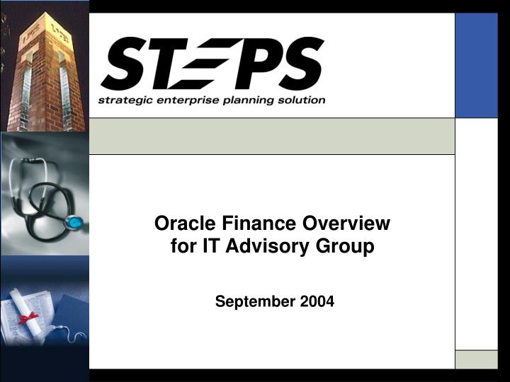 Oracle Finance Overview
