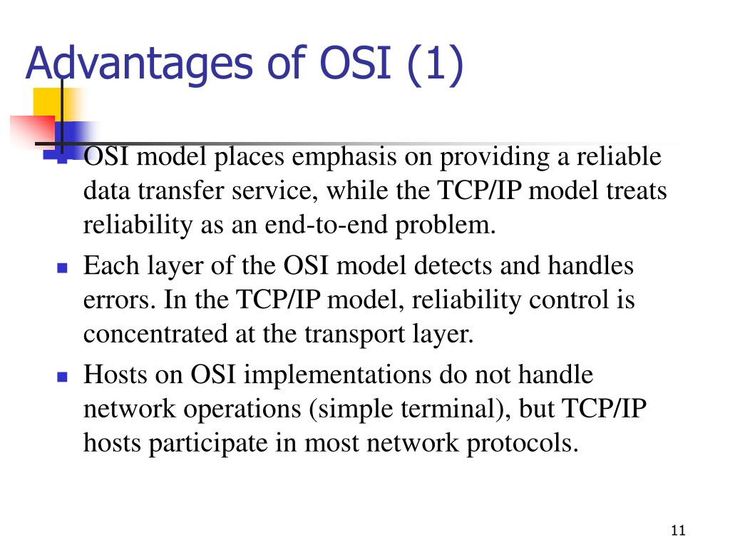 PPT - OSI vs  TCP/IP ----- Compare the protocol layers of the OSI