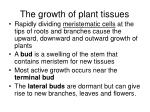 the growth of plant tissues