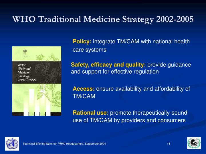 WHO Traditional Medicine Strategy 2002-2005