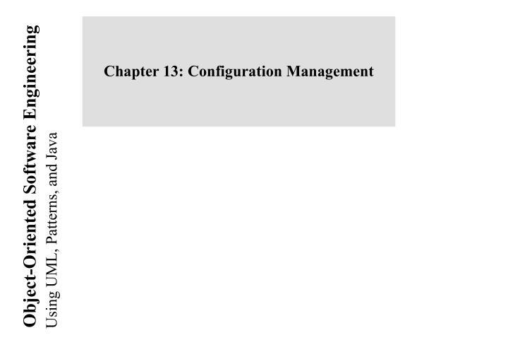 chapter 13 configuration management n.