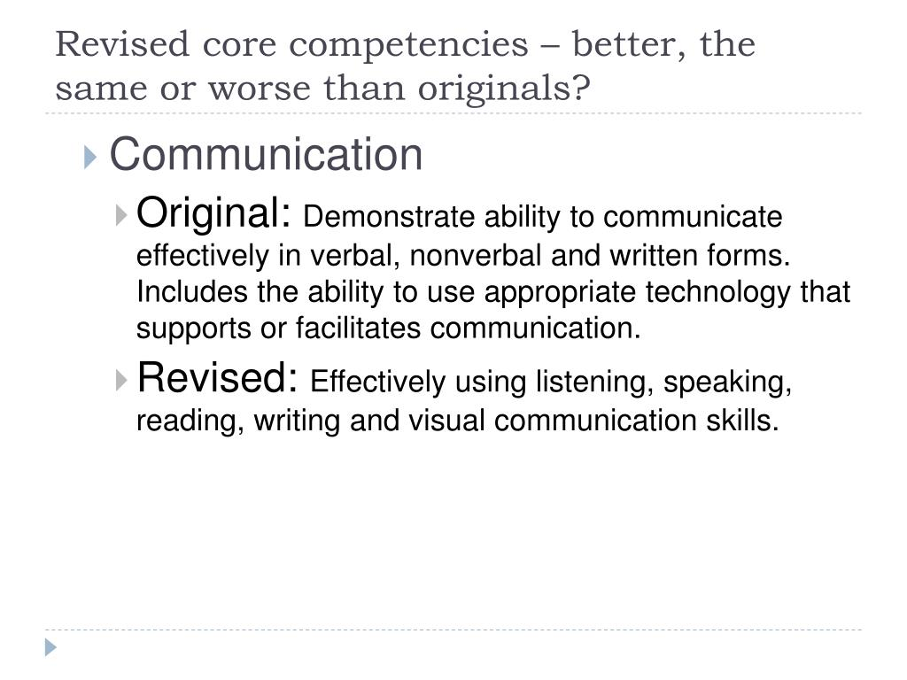 ppt - core competencies powerpoint presentation