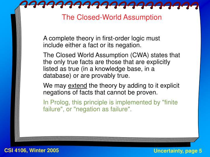 The Closed-World Assumption
