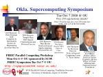 okla supercomputing symposium