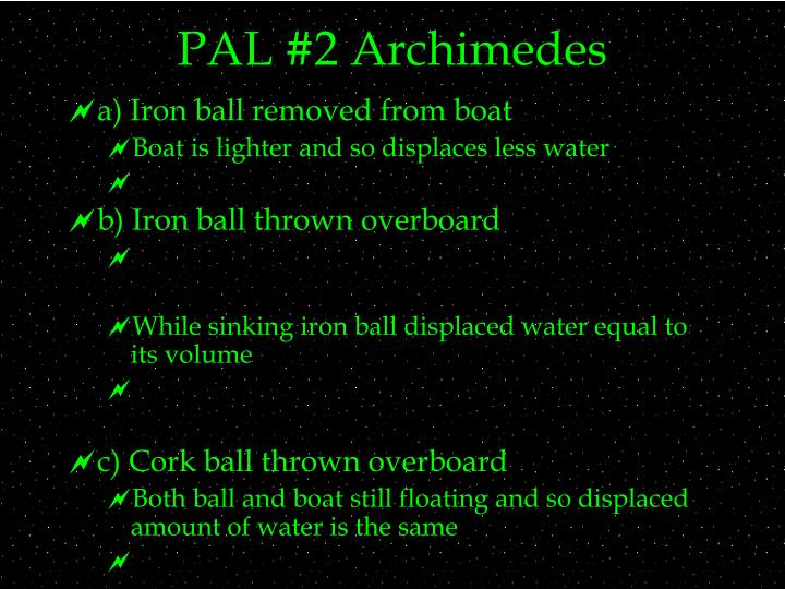 Pal 2 archimedes