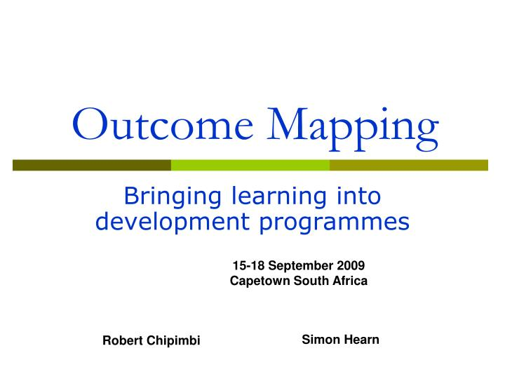 outcome mapping n.