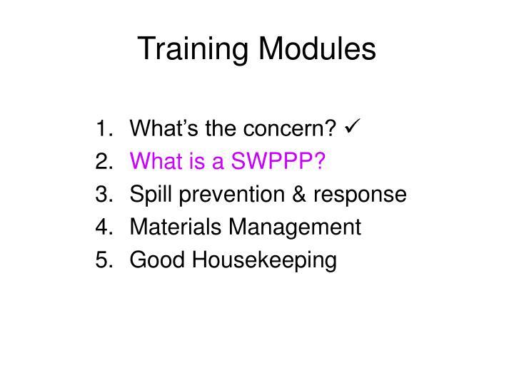 Training modules
