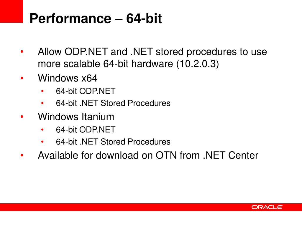 PPT - Oracle Database 11g for Windows and  NET PowerPoint