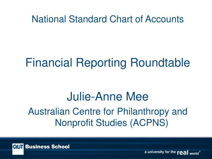 national standard chart of accounts n.