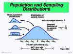 population and sampling distributions