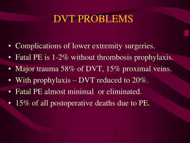 DVT PROBLEMS