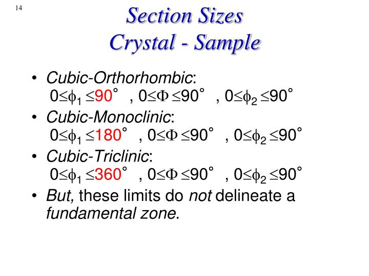 Section Sizes
