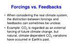 forcings vs feedbacks