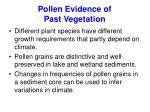 pollen evidence of past vegetation