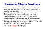 snow ice albedo feedback