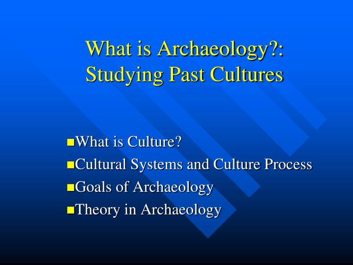 what is archaeology studying past cultures n.