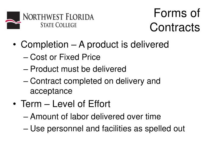 Forms of contracts