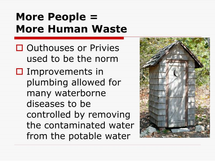 More People =                        More Human Waste