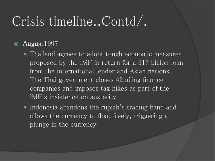 Crisis timeline..Contd/.
