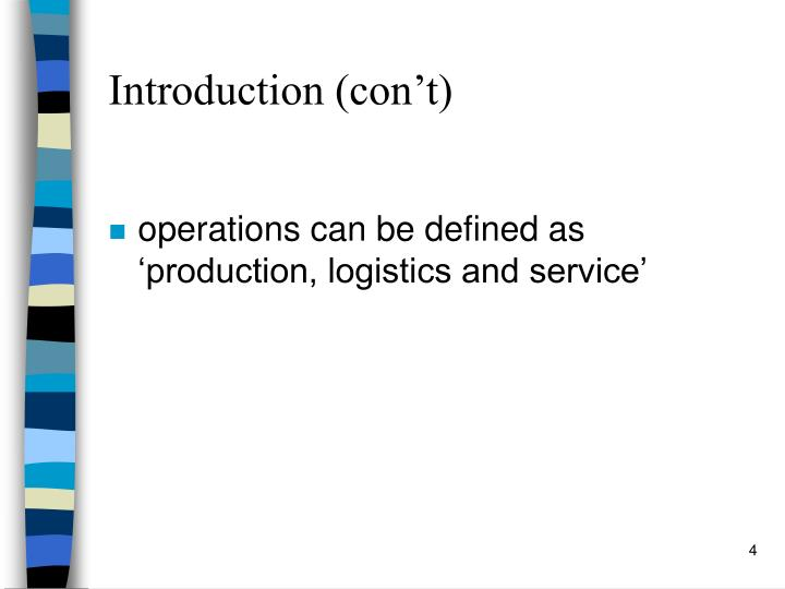 Introduction (con't)