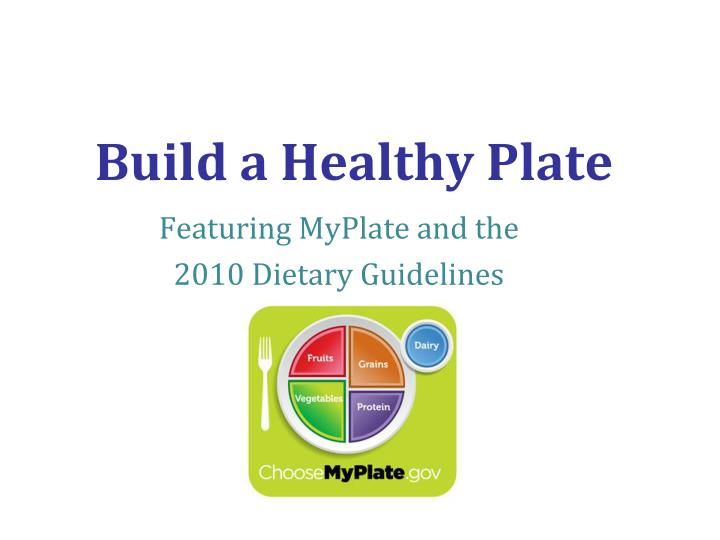 build a healthy plate n.