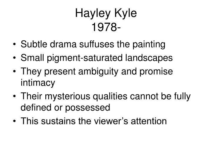 Hayley Kyle