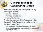 general trends in conditional grants